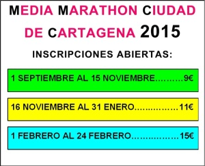 inscripciones media marathon 2015